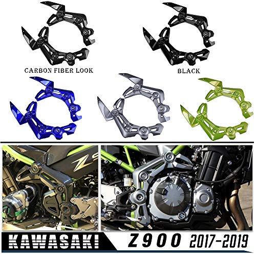 LoraBaber für Kawasaki Z900 2017 2018 2019 Links Rechts Rahmen Seitenverkleidung Verkleidung Abdeckung Z 900 17 18 19 (Kohlefaseroptik)