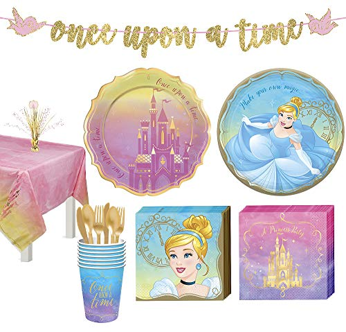 Disney Princess Pink and Yellow Plastic Party Table Cover 54 x 96