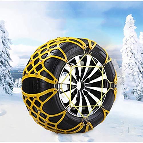 WY-YAN 2 PC/conjunto de la cadena del coche camión de nieve engrosamiento antideslizantes Neumáticos Cadenas de coches antideslizante segura la conducción sobre nieve/barro Cadenas de TPU for el c