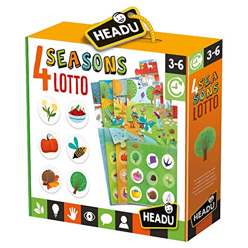 Headu- 4 Seasons - Juego educativo de cultura general y lógica, multicolor, 8.05959E+12
