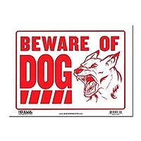 サインプレート Lサイズ 猛犬注意【BEWARE OF DOG】Sign Plate 看板 ガレージ インテリア アメリカン雑貨