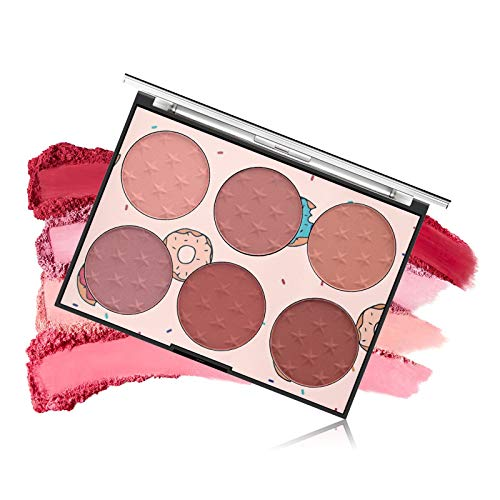 LSxia 6 Colors Face Blush Palette, Sweet Light Luxury Cheeks Contour Palette Powder Contour and Highlight Blush Palette Bright Shimmer Face Palette Matte Bronzer Blush Makeup Gift Set for Women -Set A