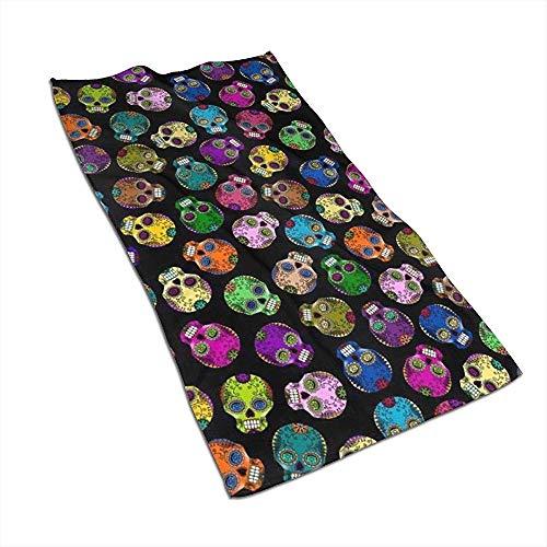 Snbin Teschi di Zucchero Morto Asciugamani in Microfibra Asciugamani Asciugamani ad Asciugatura Rapida Asciugamani Sportivi (40x70 cm) Uso per Viaggi, Fitness, Yoga