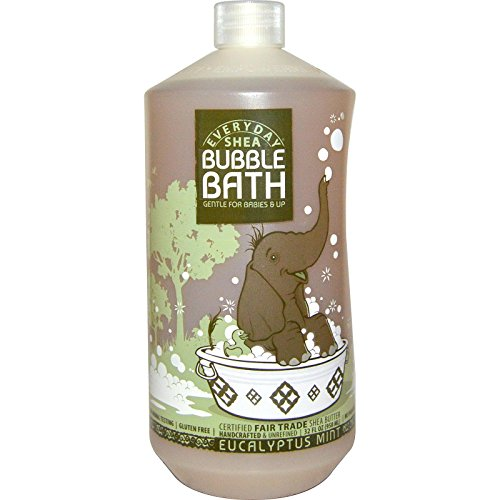 Alaffia - Bain moussant avec baume au karité et au citron pour les bébés et les enfants Eucalyptus menthe parfum - 32 oz.