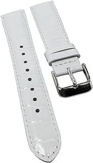 Correa de repuesto para reloj de pulsera Casio Collection Ladies LTF-119L, de piel, color blanco