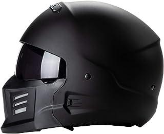 <h2>CARACHOME Jet Helm, Shark Helm, Retro Helm mit Schutzbrille,Helm Roller für Männer und Frauen. Motocross Helm Geeignet für Scooter Bike CS Game Motorrad, DOT-Zertifiziert Helm Motorrad,L</h2>