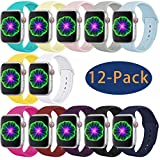 Laffav Compatible with Apple Watch Band 38mm 40mm,Silicone Replacement Band Compatible with Apple Watch Series5/4/3/2/1,Multi-Colors