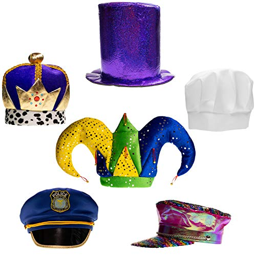 Little Seahorse Assorted Party Hats Set of 6 Funny Dress Up & Costume Hats for Adults, Teens, Photobooth, Party, Weddings, etc