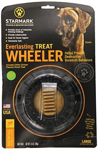 Starmark Everlasting Treat Wheeler Dog Toy Large