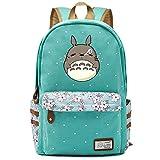 My Neighbor Totoro Anime Cosplay Mochila Bandolera Mochila Mochila Escolar Mochila Escolar (Verde 2)