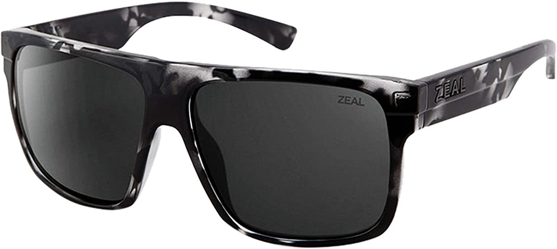 Zeal Optics Unisex Eldorado Black Marble Dark Grey Polarized Lens Sunglasses