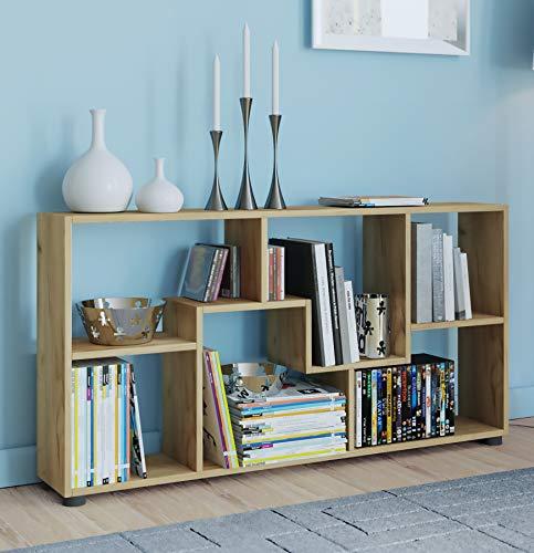 VCM Regal Kommode Bücherregal Sideboard Holz Raumteiler Pintal Honig-Eiche