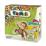 PlayMais Mosaic Little Kit de Manualidades para niñas y niños a Partir de 3 años | 2300 Piezas y 6 Plantillas de mosaicos | estimula la Creatividad y Las Habilidades motoras (Little Zoo)