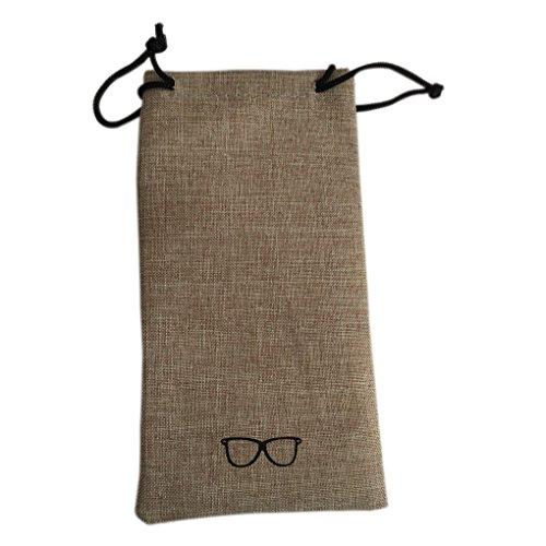 teng hong hui Bolsas portátiles Caja de los vidrios Caja de vidrios Eyewear Caja de Metal de Lino sólido despliegue de Color Gafas de Moda Organizador de protección
