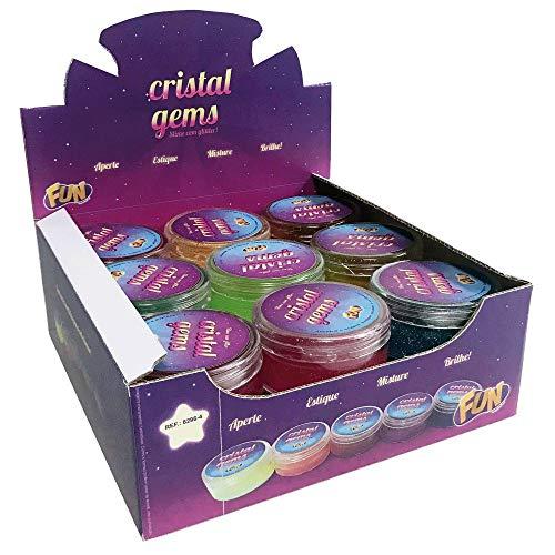 Slime com Glitter Cristal Geams Sortido - Fun