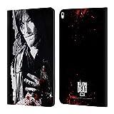 Head Case Designs Offizielle AMC The Walking Dead Verwundete Hand Blut Leder Brieftaschen Huelle kompatibel mit Apple iPad Air (2019)