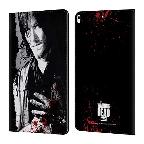 Head Case Designs Offizielle AMC The Walking Dead Verwundete Hand Blut Leder Brieftaschen Huelle kompatibel mit Apple iPad Air (2019)