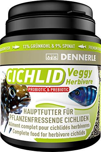 Dennerle Cichlid Veggy 200 ml - Fischfutter für pflanzenfressende Cichliden