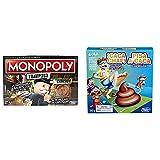 Monopoly- Tramposo (Versión Española) (Hasbro E1871105) + Hasbro Gaming - Juego Infantil Caca Chaf! (Hasbro E2489175)