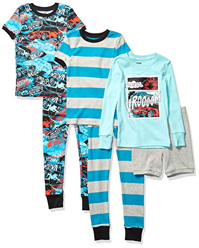 Spotted Zebra 6-Piece Snug-fit Cotton Pajama Set Unisex niños, Pack de 6