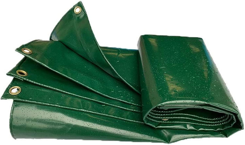 防水シート 防水シートヘビーデューティータープカバーPVC防水UV耐性腐敗と涙証拠トラック三輪車550 G/M2 透湿 防水カバー (Color : 緑, Size : 5.8X5.8m)