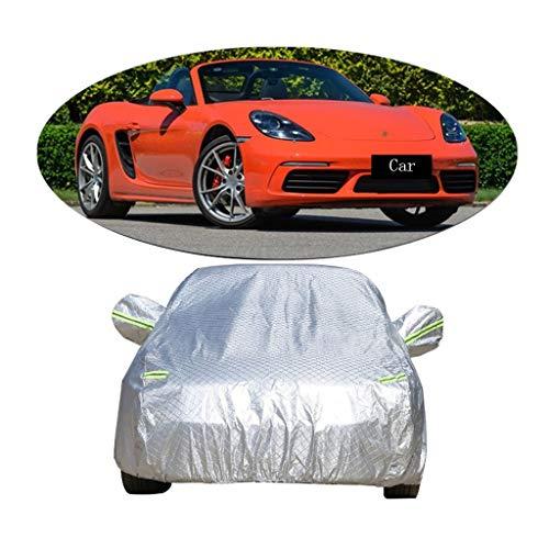 Couverture de voiture Compatible avec la couverture de voiture de vêtements de voiture d'épaississement de voiture de sport de Porsche 718 écran solaire anti-pluie de couverture de voiture antipoussiè