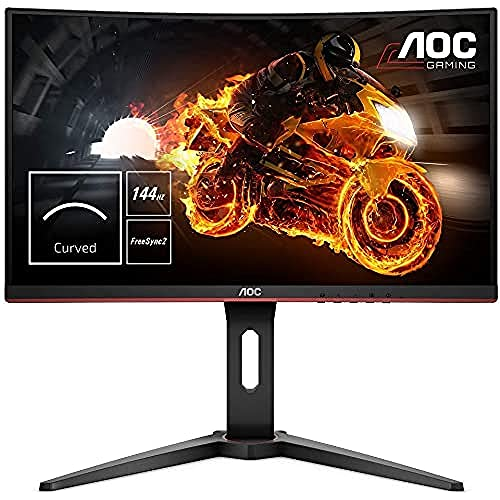 AOC C24G1 59,9 cm (23,6 '' ') gebogener PC-Gaming-Monitor (FHD, HDMI, 1 ms Reaktionszeit, DisplayPort, 144 Hz, 1920 x 1080 Pixel, FreeSync) schwarz