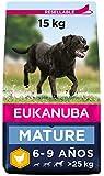 Eukanuba Comida seca para perros mayores de razas grandes con pollo 15 kg
