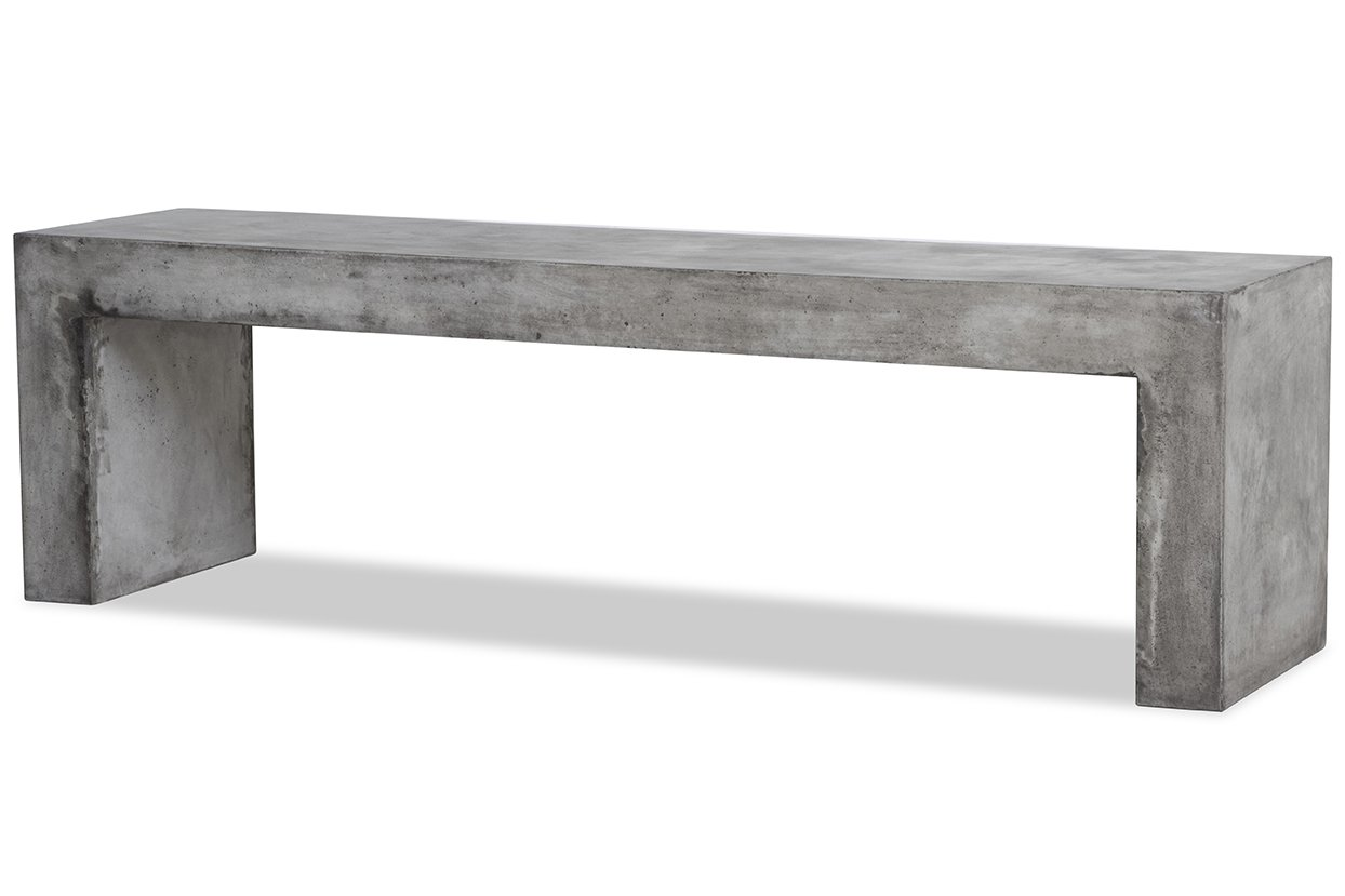 Banco – Mueble de TV de hormigón – Salón y jardín – Diseño elegante contemporáneo: Amazon.es: Hogar