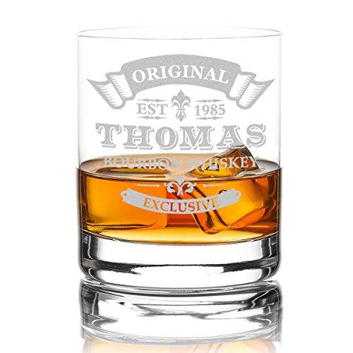 polar-effekt Whiskyglas Personalisiert 320 ml Trink-Glas für Whiskey, Rum und Scotch - Geschenk-Idee für Männer - Motiv-Gravur Original-Exclusive