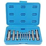 Extractor de grifo roto de acero de alta velocidad Extractor de tornillo roto Extractor de pernos A B C 3 Juego opcional(10Pcs)