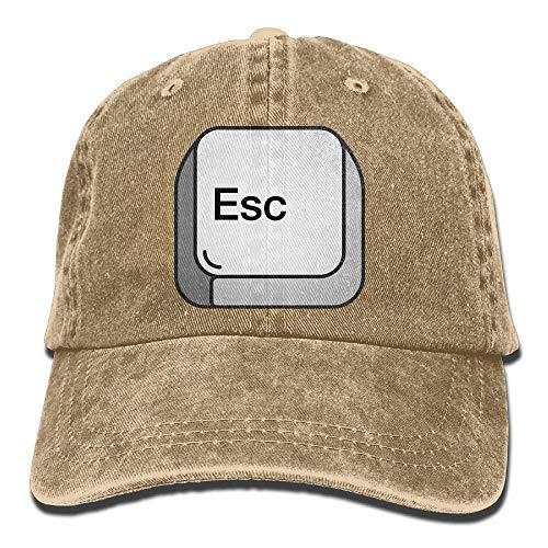 Hoswee Baseballmütze Hüte Kappe Adult's Escape Denim Fabric Baseball Hat Adjustable Hip Hop Caps Sandwich Baseball Caps