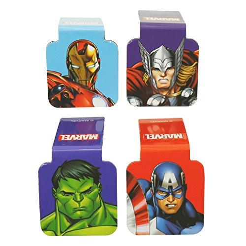 Ata-Boy Marvel Comics Avengers Superheroes Set of 4 1' Magnetic Page-Top Bookmarks