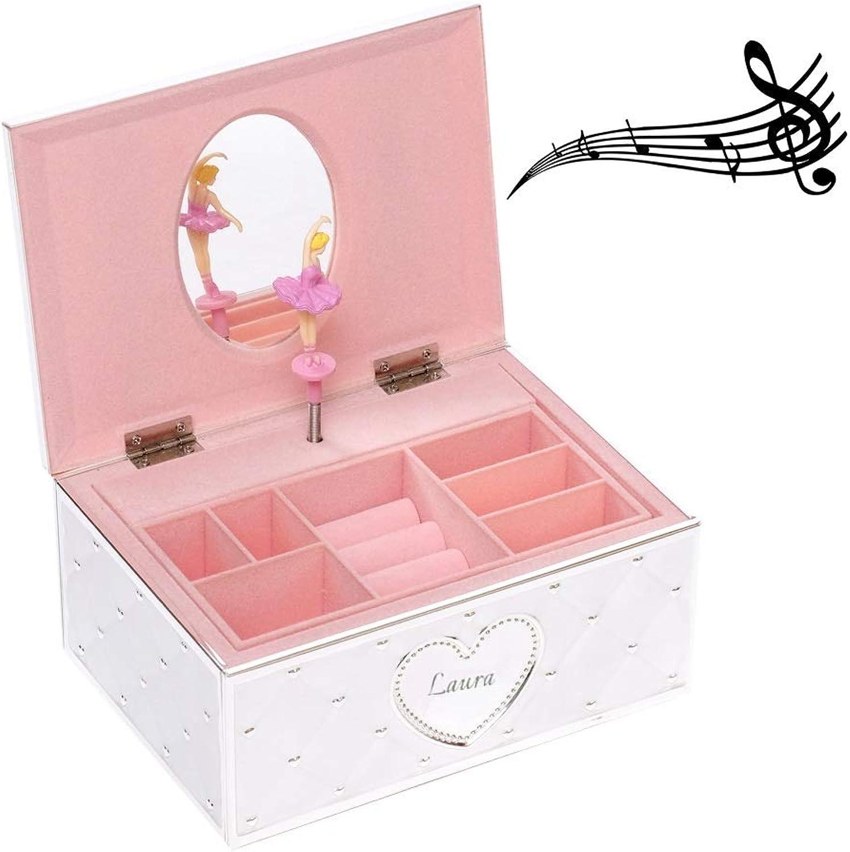 Design Schmuckschatulle Spieluhr Ballerina Mit Gravur Schmuck-Kstchen Musik Box Tnzerin Jewellery Geschenk