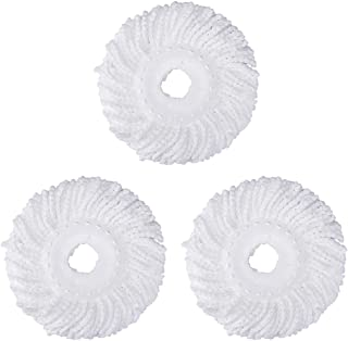 3 Replacement Mop Micro Head Refill Hurricane for 360° Spin Magic Mop-Microfiber..