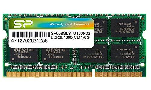 シリコンパワー ノートPC用メモリ 1.35V (低電圧) DDR3L 1600 PC3L-12800 8GB×1枚 204Pin Mac 対応 永久保...
