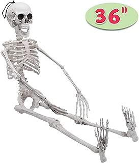 Halloween Decoration Pose-N-Stay Full Body Skeleton Plastic Bones 36