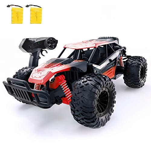 GizmoVine Ferngesteuertes Auto, Hochgeschwindigkeits-RC-Cars im Maßstab 1:14 Schneller Renn-Monster-Buggy mit 2 wiederaufladbaren Batterien, Fahrzeugspielzeug für Kinder Erwachsene Jungen Mädchen