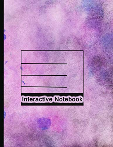 Interactive Notebook: INB Template Composition Book: Pre-made Table of Contents, Numbered Pages, Sketch Paper (left output), Wide Ruled (right input) and Glossary 8.5 x 11 Softcover.