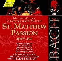 Bach: St Matthew Passion, BWV 244 (Edition Bachakademie Vol 74) /Rilling by Johann Sebastian Bach