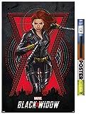 Trends International Marvel Cinematic Universe – Black Widow – Run Wall Poster, 22.5 x 34 pulgadas, póster y paquete de clip