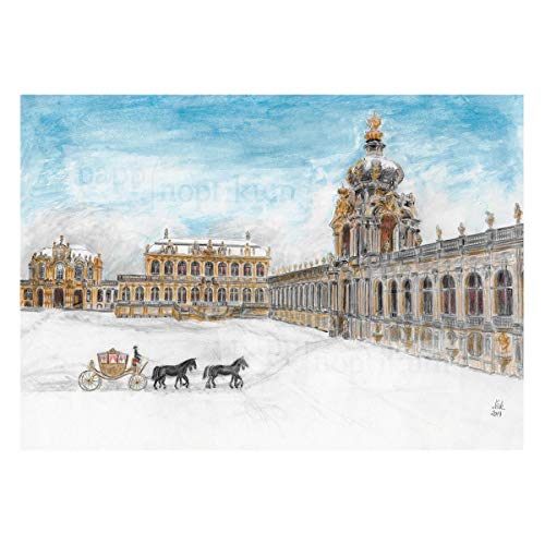 Adventskalender Zwinger Dresden | Bilderkalender mit gezeichneten 24 Details