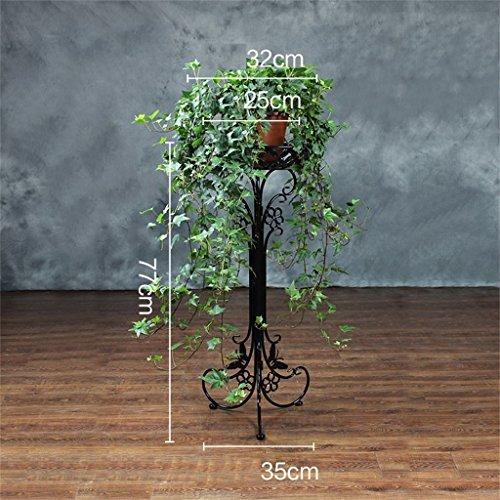 BOBE SHOP- Étagère à fleurs de radis verts Fer à repasser Multi - Plancher de sol - Style Salon de fleurs Salon Balcon Intérieur Chlorophytum moderne Ensemble de fleurs à une seule couche ( Couleur : # 1 , taille : 35*35*77cm )
