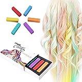 Tiza para el pelo,6 colores temporales de cabello,perfectos para fiestas, Halloween, disfraces, festivales, Cosplay y más,Para cualquier tipo de cabello ECK6