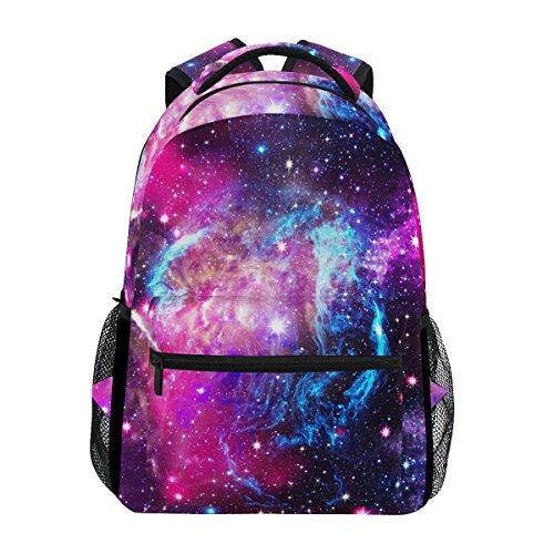 ZZKKO Universe Space Galaxy Star Comos Nebula Sac à dos d'école Sac à dos Voyage Randonnée Camping