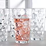 Drinking Glasses set of 10 Highball Glass Cups By Home Essentials & Beyond – Premium Cooler 17 Oz. Glassware – Ideal for Water, Juice, Cocktails, Iced Tea.