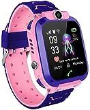 MUXAN Kids Smartwatch Reloj de Pulsera Inteligente Impermeable IP67 con SOS Reloj Despertador Reloj Digital Antorcha de cámara Juegos para niños compatibles con iOS/Android (Rosa)