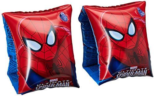 BESTWAY – Brassards Spiderman – Rouge – 98001 – 3-6 Ans – 15-30 kg – 17 cm x 23 cm – pour Enfant dès 3 Ans