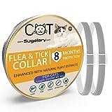 Sugelary Collar Antiparasitario para Gatos, Protección de 8 Meses, Tamaño Ajustable e Impermeable, Mejorado con Aceites Esenciales Naturales, Tratamiento-antipulgas-para-Gatos(2)