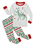 Family Feeling Little Girls Boys Long Sleeve Christmas Pajamas Sets 100% Cotton Pyjamas Toddler Kids Pjs Size 5 Reindeer